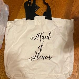 Made of honor tote bag